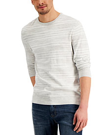 Club Room Men's Low Tide Striped Crewneck Sweater, Created for Macy's