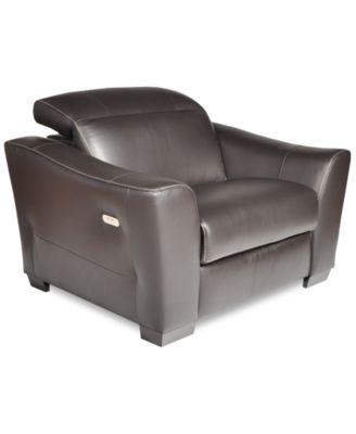 Destin Leather Power Recliner Furniture Macy S