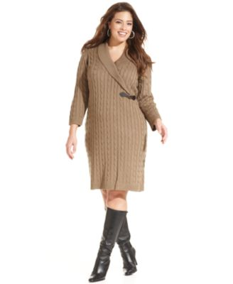 Style&co. Plus Size Babydoll Sweater Dress - Dresses - Plus Sizes ...
