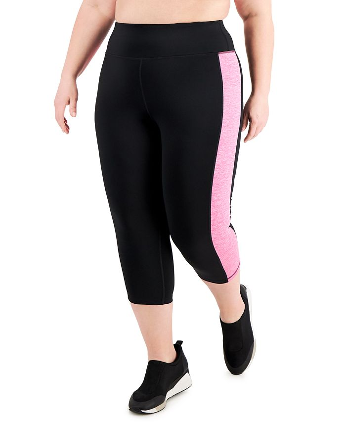 Ideology - Plus Size Colorblocked Cropped Leggings