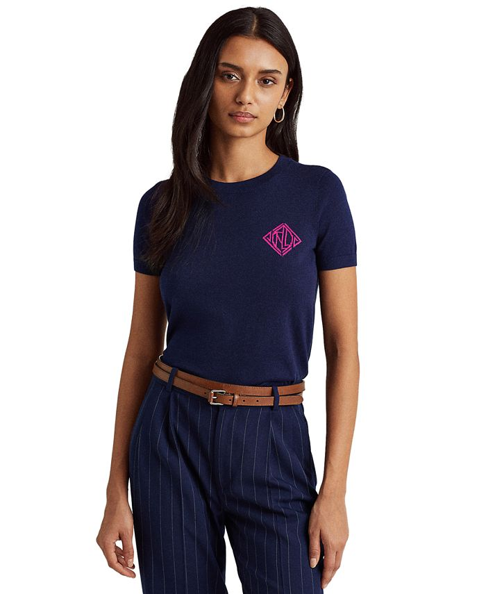 Lauren Ralph Lauren - Intarsia-Knit Logo T-Shirt