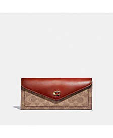 COACH Wyn Soft Leather Wallet In Colorblock Signature Canvas