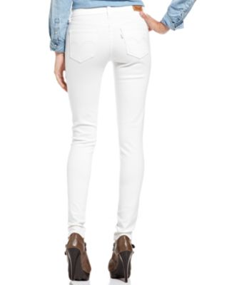 Levi's® Juniors' 535 White Wash Denim Leggings - Jeans - Juniors ...