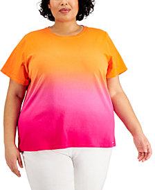Calvin Klein Plus Size Ombré Top