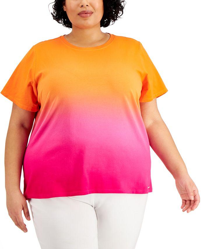 Calvin Klein - Plus Size Ombré Top