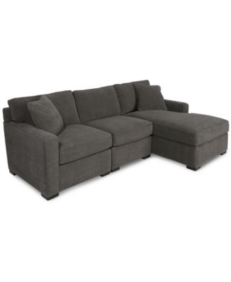 Clarke Fabric 2 Piece Sectional Sofa With Chaise Only At