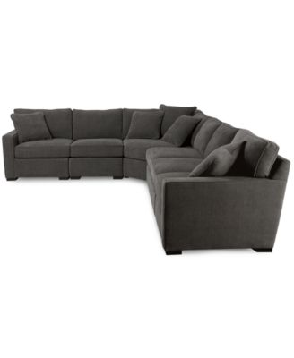 Beau Radley 5 Piece Fabric Sectional Sofa