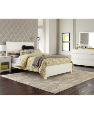 Tribeca White California King Bed - Furniture - Macy\'s