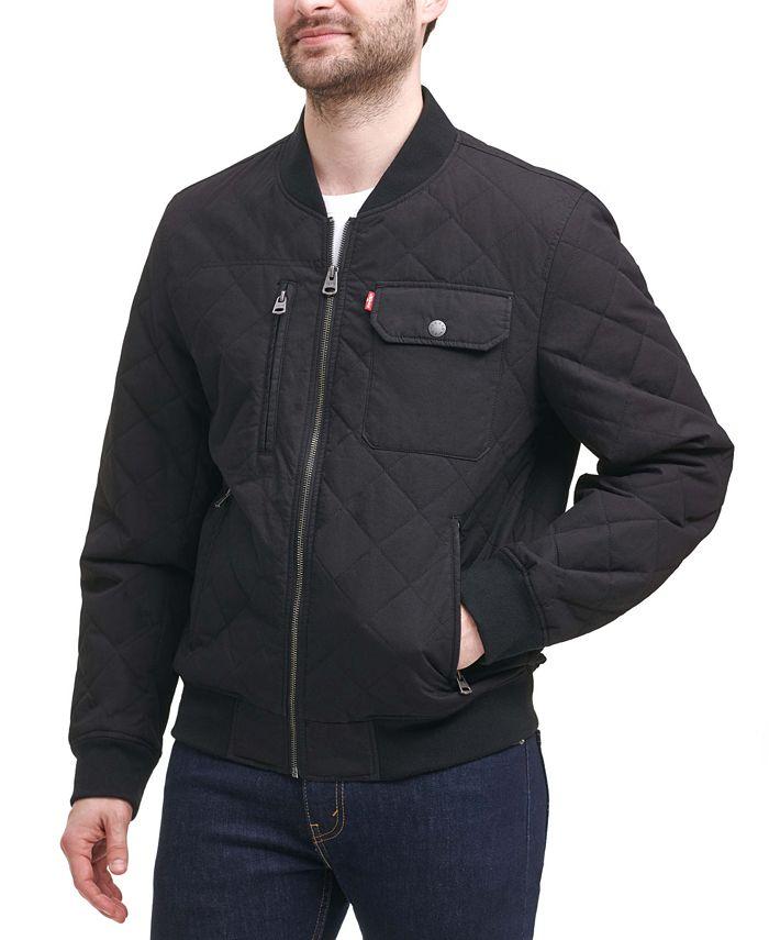 Levi's - Men's Diamond Quilted Bomber Jacket