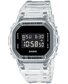 G-Shock Men's Digital Square Clear Resin Strap Watch 42.8mm
