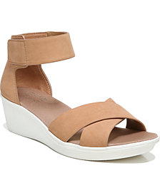 Naturalizer Riviera Ankle Strap Wedge Sandals
