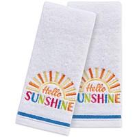 Deals on Martha Stewart Collection Hello Sunshine 2-Pc. 11x18-in Towel