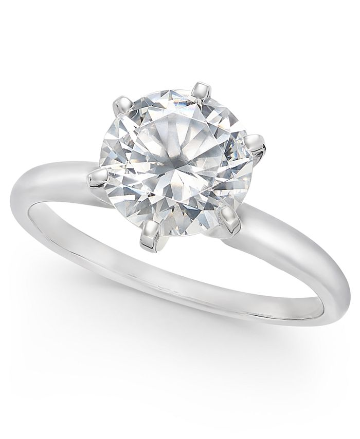Macy's - Diamond Solitaire Engagement Ring (1-1/2 ct. t.w.) in 14k White or Yellow Gold
