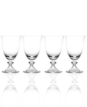 Closeout! Mikasa Set of 4 Ridgefield Clear Goblets