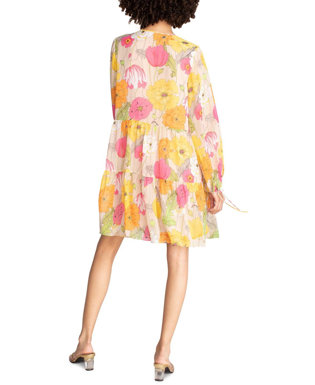 Trina Turk Cinema Floral-Print Tiered Dress & Reviews - Dresses - Women - Macy's