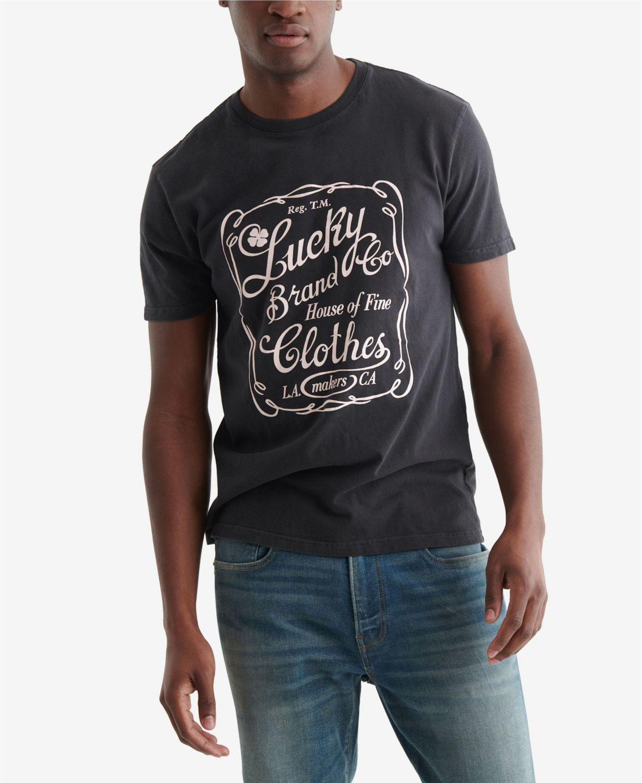 Lucky Brand Men's Ol Skool Plaque T-shirt & Reviews - T-Shirts - Men - Macy's