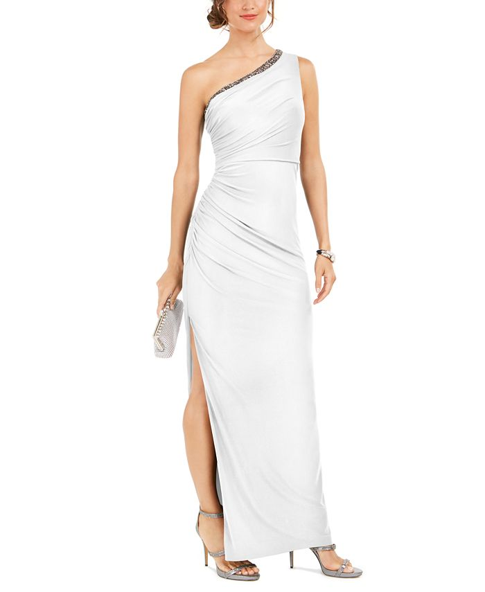 Adrianna Papell - One-Shoulder Jersey Gown