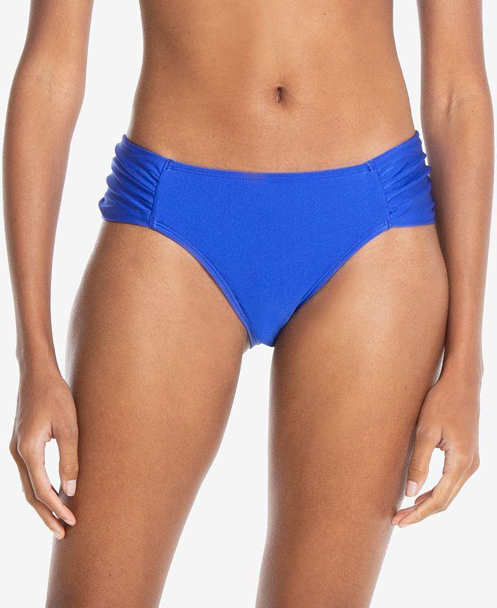 RACHEL Rachel Roy - Boardwalk Basics Ruched-Side Bikini Bottoms