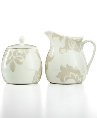 Martha Stewart Collection Lisbon Gray Sugar Bowl And