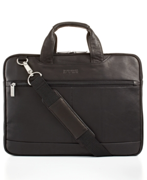 Kenneth Cole Reaction Double-Sided Leather Laptop Brief