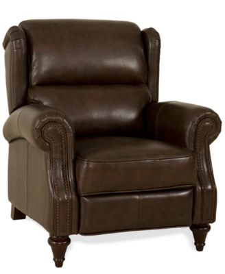 Kennedy Leather Recliner Furniture Macy s