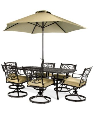 Wentley Patio Furniture Outdoor 7 Piece Set 70 X40 Table 6