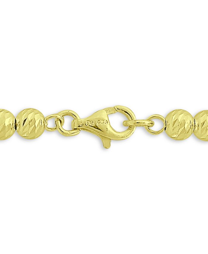 Giani Bernini Polished Beaded Bracelet in 18k Gold-Plated Sterling Silver, Created for Macy's & Reviews - Bracelets - Jewelry & Watches - Macy's
