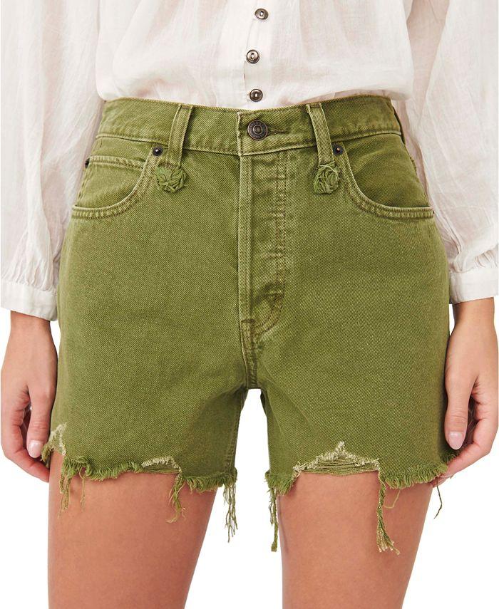 Free People - Makai Cotton Cutoff Denim Shorts