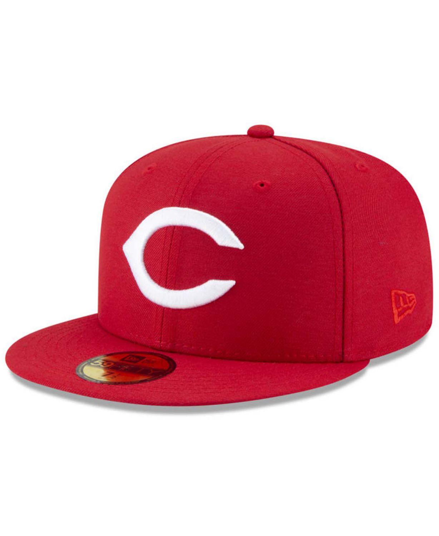 New Era Cincinnati Reds 100th Anniversary Patch 59FIFTY Cap & Reviews - MLB - Sports Fan Shop - Macy's