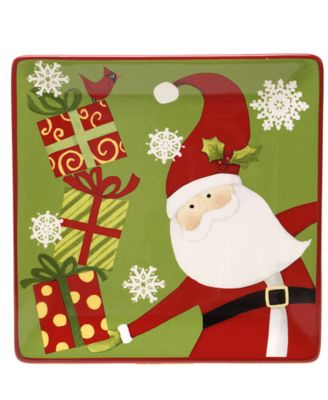 CLOSEOUT! Certified International Christmas Presents Snowman Dessert ...