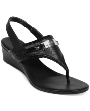 BCBGeneration Jessie Wedge Thong Sandals Women's Shoes