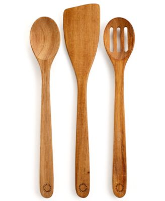 Martha Stewart Collection Set of 3 Acacia Kitchen Utensils, Only at Macy's
