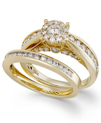 Diamond Ring Set In 14k Gold (1 1/3 Ct. T.w.)