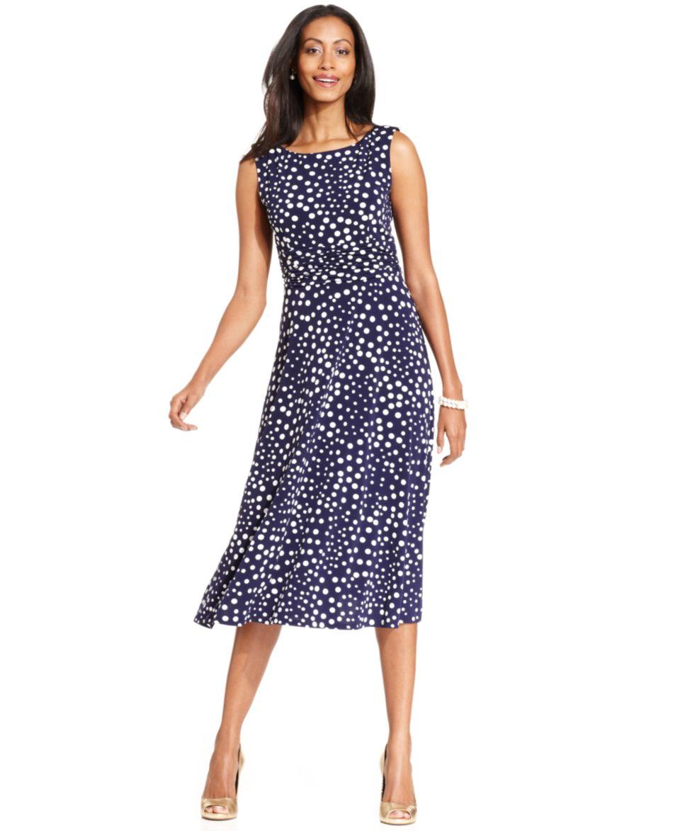 Jessica Howard Petite Short Sleeve Floral Print Dress   Dresses   Women
