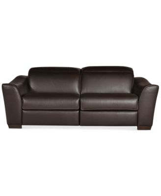 Caruso Leather Power Motion Sectional Sofa Living Room