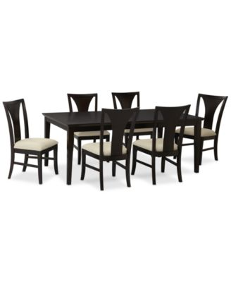 Edgewater 7 Piece Dining Table Set 6 Side Chairs