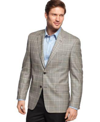 Shaquille O'Neal Grey Windowpane Sport Coat - Blazers & Sport ...