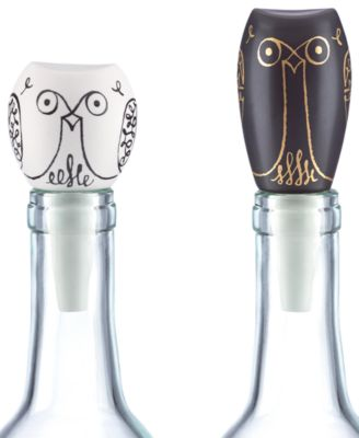 kate spade new york Woodland Park Set of 2 Owl Bottle Stoppers