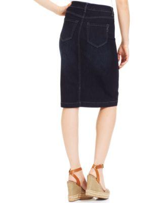 Style & Co. Denim Skirt, Rinse Wash - Skirts - Women - Macy's