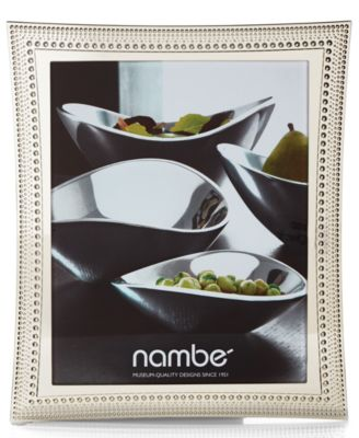 "Nambe Beaded 8"" x 10"" Frame"