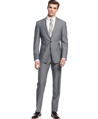 DKNY Grey Suit Extra Slim Fit - Suits & Suit Separates - Men - Macy's