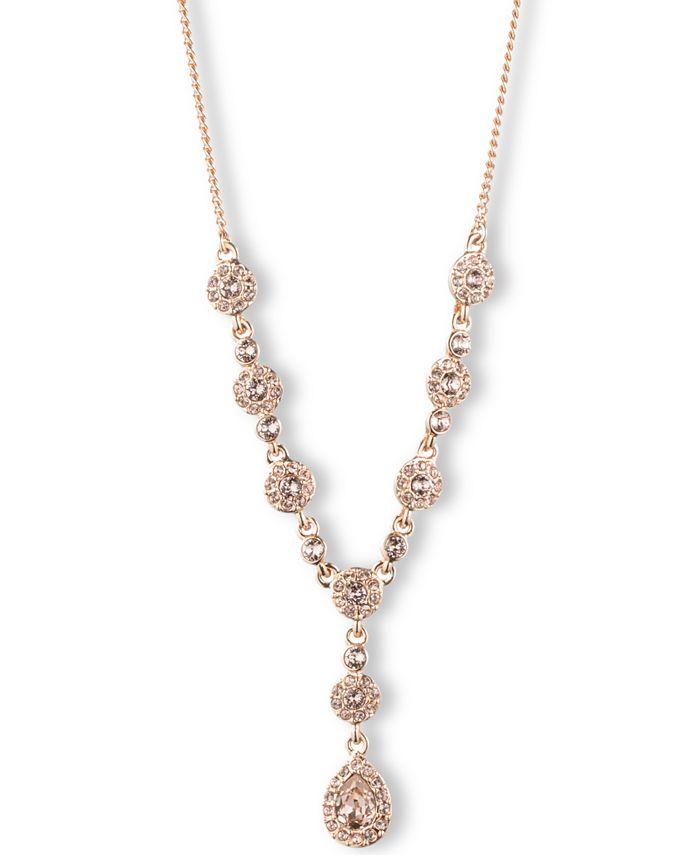 Givenchy - Silver-Tone Crystal Y Necklace
