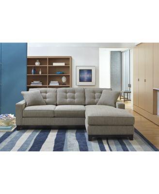 Macys Sectional Sofa Closeout Harper Fabric 6 Piece