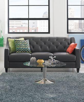 Claudia II Leather Sofa