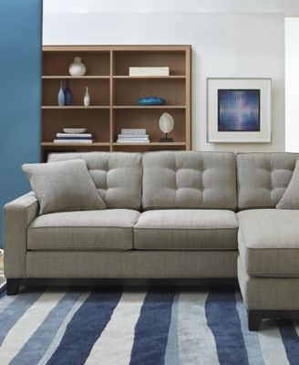 clarke fabric 2-piece sectional sofa - furniture - macy's