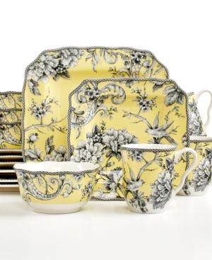 222 Fifth Adelaide Yellow Square 16-Piece Set $ 190.00