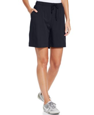 Karen Scott Sport Pull-On Knit Shorts