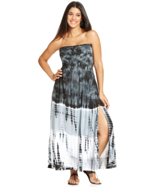 Raviya Plus Size Convertible Tie-Dye Cover Up Women's Swimsuit