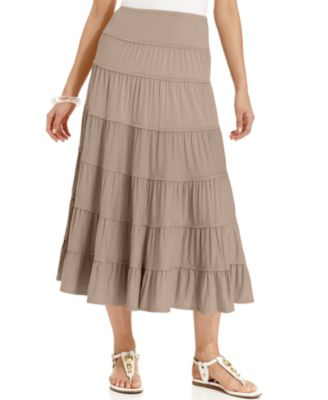 Style & Co. Tiered Maxi Skirt - Skirts - Women - Macy's