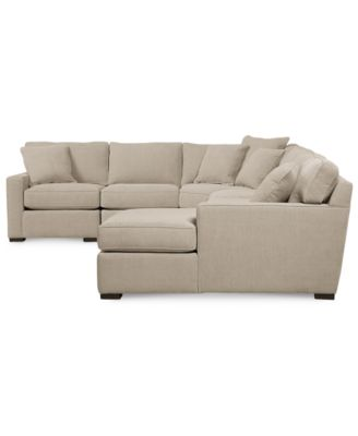 Radley fabric 6 piece chaise sectional sofa furniture for Radley 4 piece fabric chaise sectional sofa